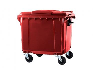 Contenedor de Basura con Ruedas y Tapa de 660 litros Rojo Marca ESE