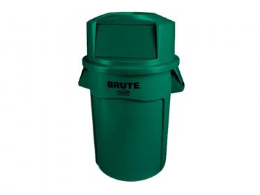 Contenedor Brute® Rubbermaid 121 litros FGFG263200GRN con Tapa Domo 12829398 Verde