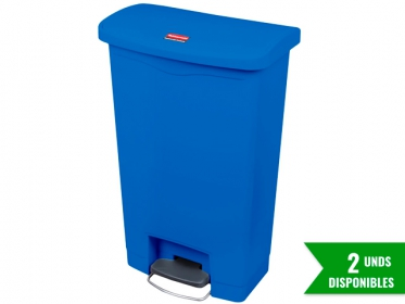 Papelera de Pedal Slim Jim Step-On 50 Litros Azul Rubbermaid 1883593