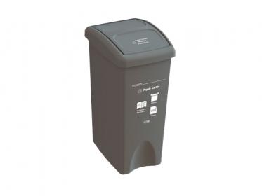 Papelera con Tapa Vaivén  35 Litros Gris (Papel Carton) Estra 235231D-1008