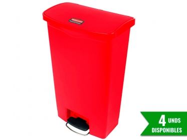 Papelera de Pedal Slim Jim Step-On 68 Litros Rojo Rubbermaid 1883568