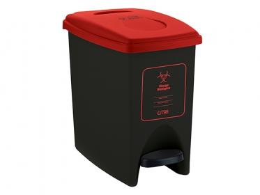 Papelera Pedal ECO 10 Litros Color Rojo 4-1034575