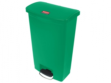 Papelera de Pedal Slim Jim Step-On 68 Litros Verde Rubbermaid 1883586