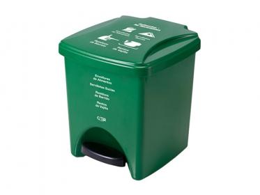 Papelera Pedal 20 Litros Verde Residuos No Reciclabes Marca Estra 235375D-1005