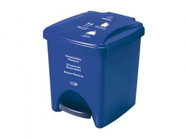 Papelera Pedal 20 Litros Azul Residuos Plástico Marca Estra 235375D-1003