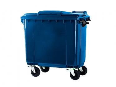 Contenedor de Basura con Ruedas y Tapa de 660 litros Azul Marca ESE Ref: MGB SL 660L