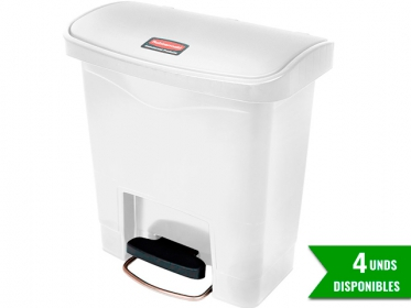 Papelera de Pedal Slim Jim Step-On 15 Litros Blanco Rubbermaid 1883554