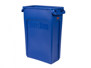 Contenedor Slim Jim® 87 litros Azul Rubbermaid FG354007BLUE