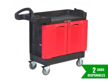 Carro TradeMaster® Armario Movil 2 Puertas Rubbermaid FG451288BLA