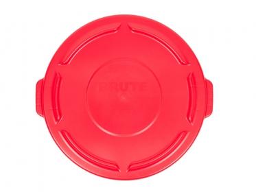 Tapa Plana Contenedor Brute® 121 litros Rubbermaid Rojo FG263100RED