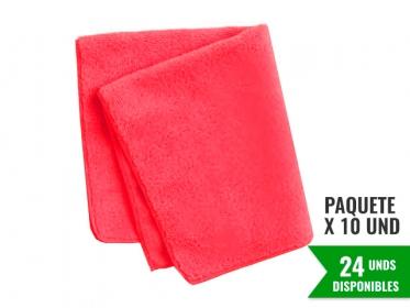 Paño de Microfibra Rojo HYGEN™ Económica 40x40 Cm Rubbermaid 1987489