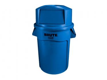 Contenedor Brute® Rubbermaid 121 litros FG263200BLUE con Tapa Domo 12829398 Azul