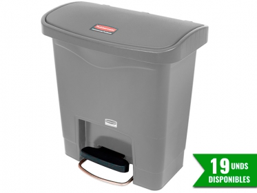 Papelera de Pedal Slim Jim Step-On 15 Litros Gris Rubbermaid 1883599