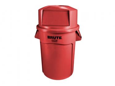 Contenedor Brute® Rubbermaid 121 litros FG263200RED con Tapa Domo FG263788RED Rojo