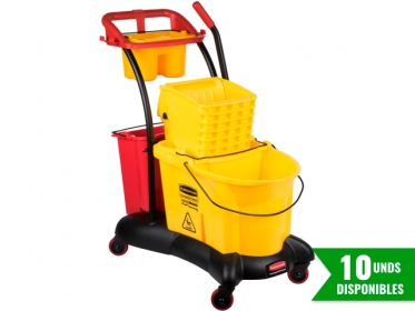 Balde con Escurridor 33 litros Amarillo WaveBrake®Trollly Side Press FG778000YEL
