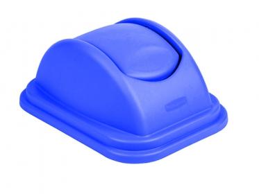 Tapa Vaivén para Papelera (39 litros) Rubbermaid Azul 1829407