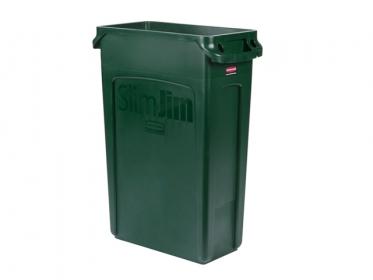 Contenedor Slim Jim® 87 litros Verde Rubbermaid FG354007GRN