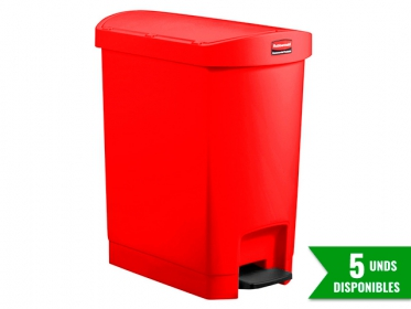 Papelera de Pedal Slim Jim Step-On 30 Litros Roja Rubbermaid 1883565