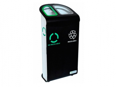 Punto Ecológico 2 Divisiones Lamina CR\70L\Reciclable - No Reciclables\\Emp 1