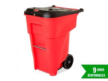 Rubbermaid FG9W1900RED Contenedor Brute® Residuos Peligrosos con Ruedas 246 litros Rojo