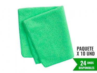 Paño de Microfibra Verde HYGEN™ Económica 40x40 Cm Rubbermaid 1987490