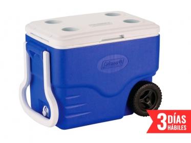 Nevera Plástica Con Ruedas 37.8 Litros 40 Qt  Azul Coleman 6240A718G