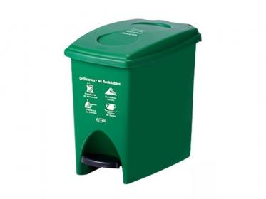 Papelera Pedal 10 Litros Verde Residuos No Reciclabes Marca Estra 235224D-1005