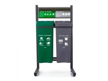 Punto Ecológico 53 Litros Con Tablero 2 Puestos (Gris, Verde) Estra 4-1019069