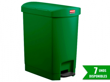 Papelera de Pedal Slim Jim Step-On 30 Litros Verde Rubbermaid 1883583