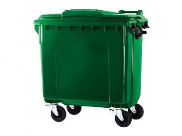 Contenedor de Basura 770 litros con Ruedas y Tapa Verde Marca ESE