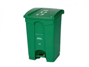 Papelera de Pedal de 45 Litros Color Verde Marca Estra  4-1029661