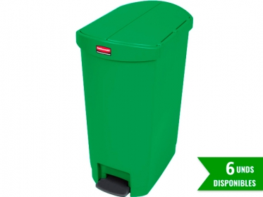 Papelera de Pedal Slim Jim Step-On 50 Litros Verde Rubbermaid 1883585