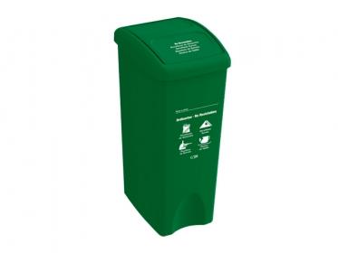 Papelera con Tapa Vaivén  53 Litros Verde (No Reciclable) Estra 235787D-1005