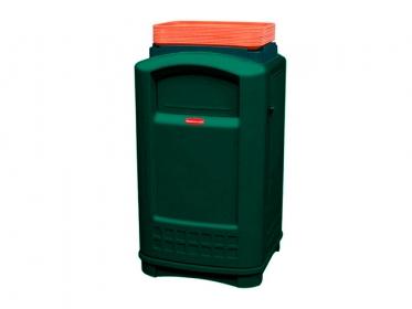 Contenedor Plaza ® Con Bandeja Superior  Litros Verde Rubbermaid FG396300GRN