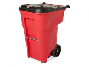 Rubbermaid FG9W2000RED Contenedor Brute® Residuos Peligrosos con Ruedas 360 litros Rojo
