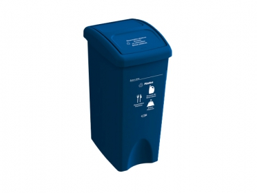 Papelera con Tapa Vaivén 35 Litros Azul (Plástico) Estra 235231D-1003
