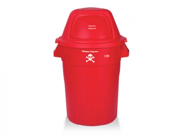 Contenedor Élite 121 Litros (Residuos Peligrosos) Rojo Estra 4-1008363