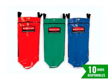 Set x 3 Bolsas de Vinilo Carro Limpieza Triple Rubbermaid - Con Ícono de Reciclaje FG9T930100