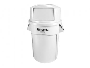 Contenedor Brute® Rubbermaid 121 litros FG263200WTH con Tapa Domo FG263788WTH Blanco