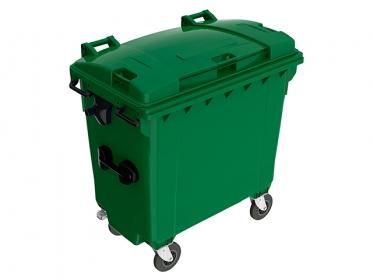 Contenedor de Basura 770 litros con Ruedas y Tapa Verde