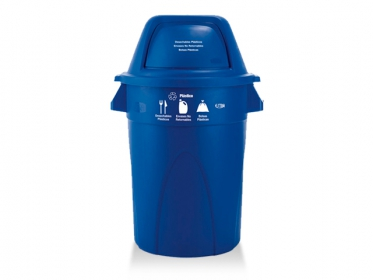 Contenedor Élite 121 Litros (Plástico) Azul Estra 4-1019827