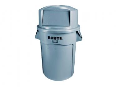 Contenedor Brute® Rubbermaid 121 litros FG263200GRAY con Tapa Domo FG263788GRAY Gris