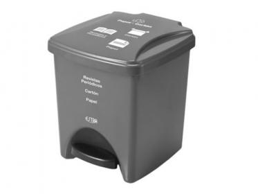 Papelera Pedal 20 Litros Gris Residuos Papel-Carton Marca Estra 235375D-1008
