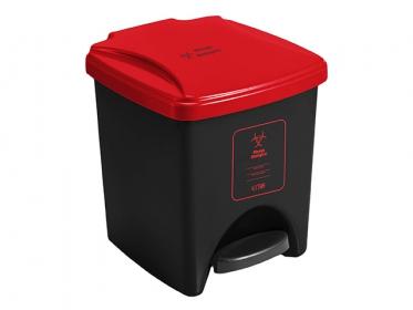 Papelera Pedal ECO 20 Litros Rojo 4-1034578