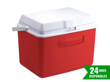 Nevera Plástica Portátil 22 Litros (24Qt) Rojo Rubbermaid 2A13RED
