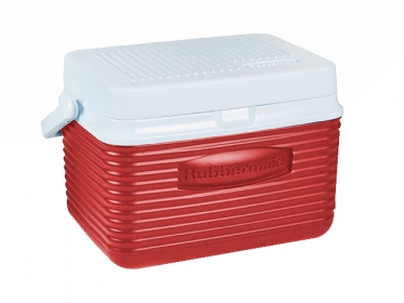 Nevera Plástica Portátil 4.7 Litros (5Qt) Rojo Rubbermaid 2A09RED