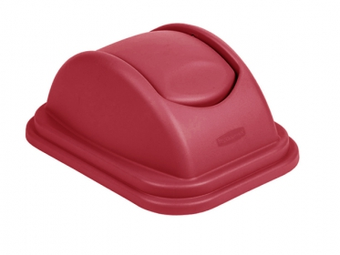 Tapa Vaivén Para Papelera (39 litros) Rubbermaid Rojo FG36000RED