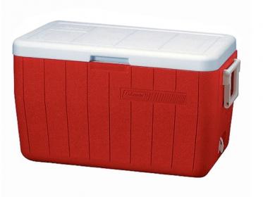 Nevera Plástica Portátil 45.4 Litros 48 Qt Rojo Coleman 3000000154