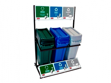 Punto Ecológico Slim Jim® Rubbermaid 87 litros 1973718