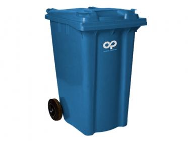 Contenedor de Basura 360 litros con Ruedas y Tapa Azul